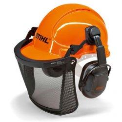 Защитный шлем с сеткой и наушниками Stihl Economy (00008851400)