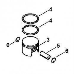Поршень, диам. 37 мм Stihl для MS 170 (1130-030-2000)