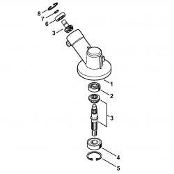 Редуктор Stihl для мотокосы FS 55, FS 56 (4144-640-0100)