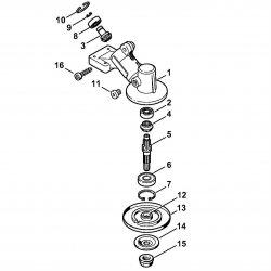 Редуктор Stihl для мотокосы FS 55 (4140-640-0110)