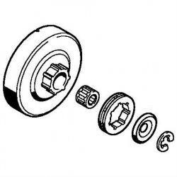 """Комплект - Кольцевая цепная звездочка Stihl 3/8"""", 7z для MS 290, MS 340, MS 360 (1125-007-1041)"""