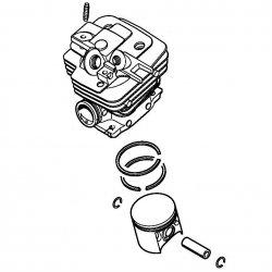 Цилиндр с поршнем, диам. 47 мм Stihl для бензопилы MS 361 (1135-020-1202)