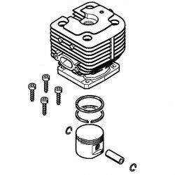 Цилиндр с поршнем, диам. 40 мм Stihl для мотокос FS 400 (4128-020-1201)