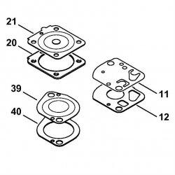 Комплект - Карбюраторные детали Stihl для FS 130, FS 310 (4180-007-1061)