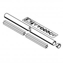 Хвостовик диам. 28 мм x 1,36 м Stihl для FS 400 K, FS 450 K (4128-710-7117)