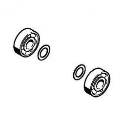 Комплект шарикоподшипников коленвала Stihl для FS 56, FS 70, BG 86 (4144-020-2050)