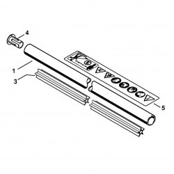 Хвостовик Stihl диам.25,4 мм для мотокос FS 55 (4140-710-7101)