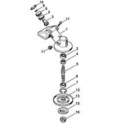 Редуктор Stihl для мотокос FS 120, FS 130, FS 250 (4137-640-0100)