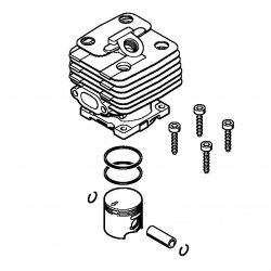 Цилиндр с поршнем, диам. 35 мм Stihl для мотокос FS 120 (4134-020-1218)