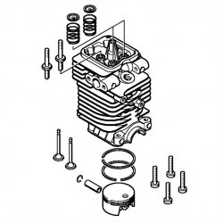 Цилиндр с поршнем, диам. 38 мм Stihl для мотокос FS 87, FS 90 (4180-020-1207)