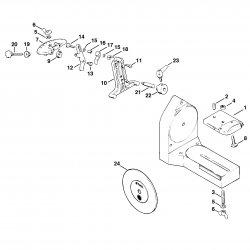 Поворотный суппорт для пильных дисков для электростанка Stihl USG