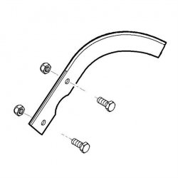 Нож пропашной правый Viking для культиваторов HB 560, HB 585, HB 685 (6242-710-3105)