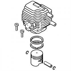 Цилиндр с поршнем, диам. 33 мм Stihl для мотокос FS 72, FS 74, FS 76 (4133-020-1201)