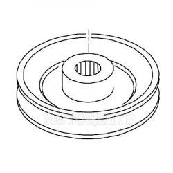 Шкив коробки передач Viking для садовых тракторов MT 5097.0, MT 6112.0, MT 6127.0 (0010-643-1501)